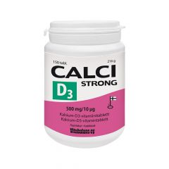 CALCI STRONG + D3 500 MG/10 MIKROG X150 TABL