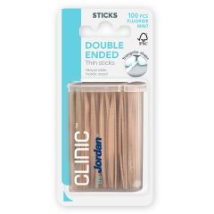 Clinic by Jordan Double Ended Thin Sticks hammastikku 100 kpl