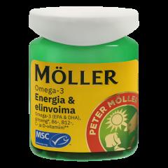 Möller Omega-3 Energia & elinvoima  60 kaps
