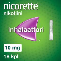 NICORETTE INHALAATTORI 10 mg inhal höyry, kyllästetty patruuna 18 fol